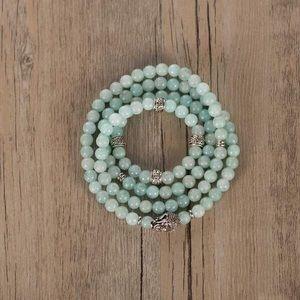 Jewelry - New in package 108 bead Mala bracelet - amazonite